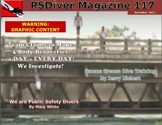 PSDiver Magazine Issue 117 Public Safety Diving Drowning Victim Body Recovery Divers Police Divers Suicide by Drowning