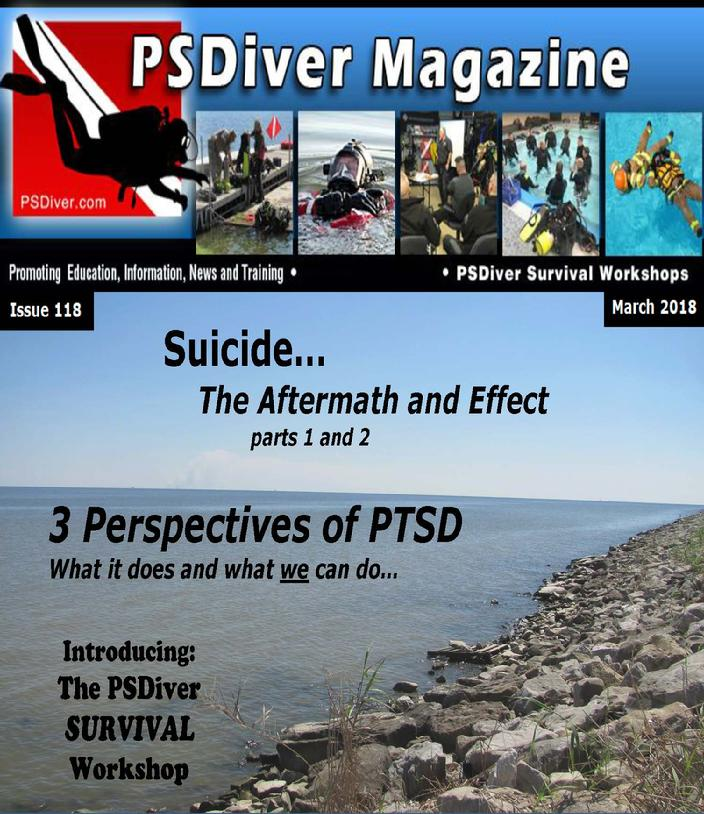 PSDiver Magazine Issue 118 Suicide-Aftermath and Effects, Perspectives of PTSD